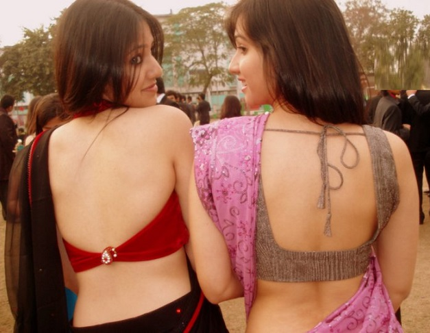 hot blouse back college girl