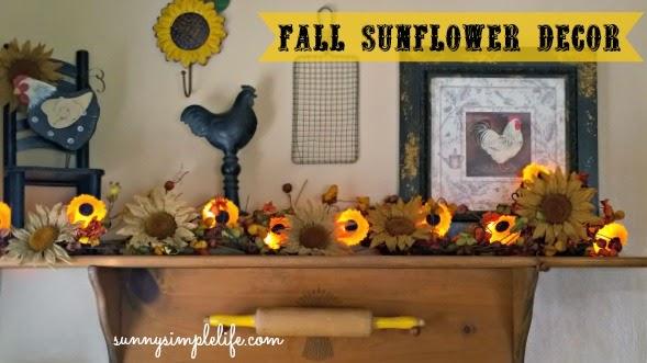 September Decorating Ideas sunny simple life: fall sunflower decorating ideas