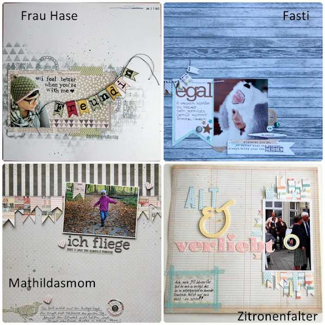 Material der Woche | Layouts mit Girlanden, Bannern und Flaggen | www.danipeuss.de
