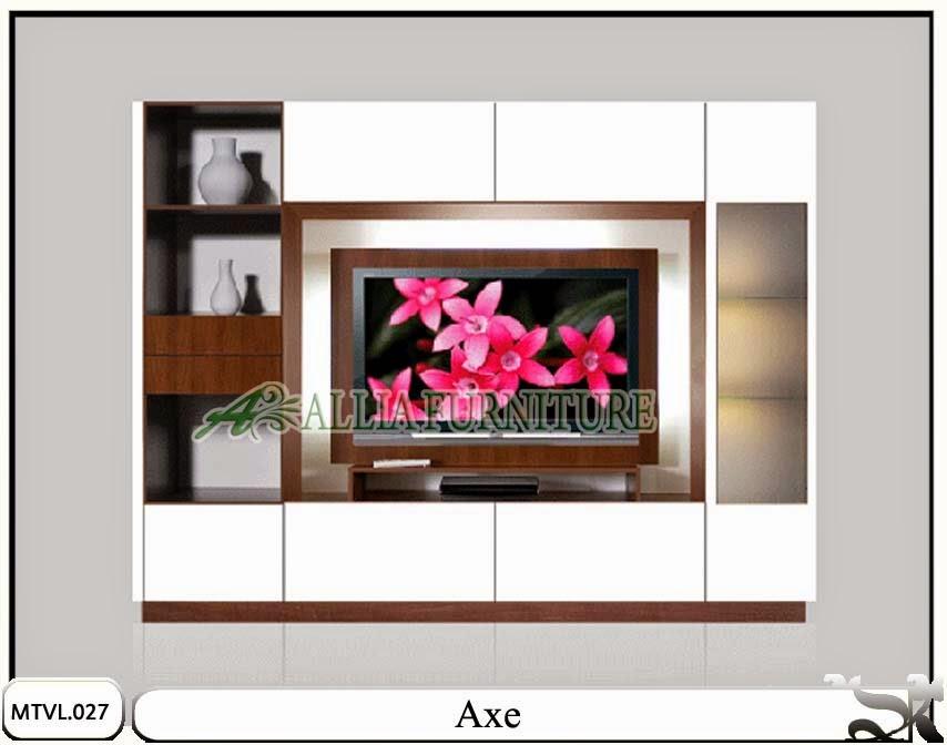 Lemari rak model tv lcd minimalis axe