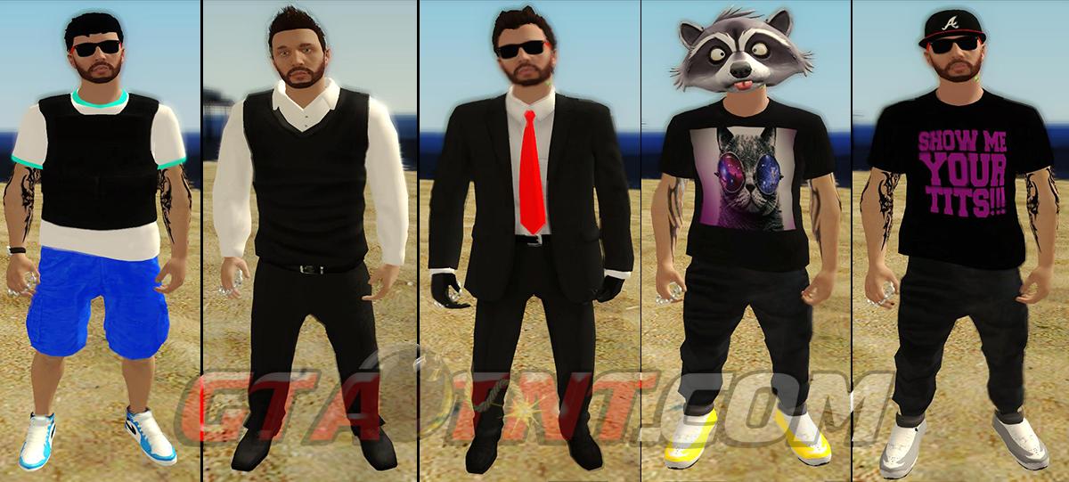 Skins do GTA 5 Online Personalizadas para GTA San Andreas