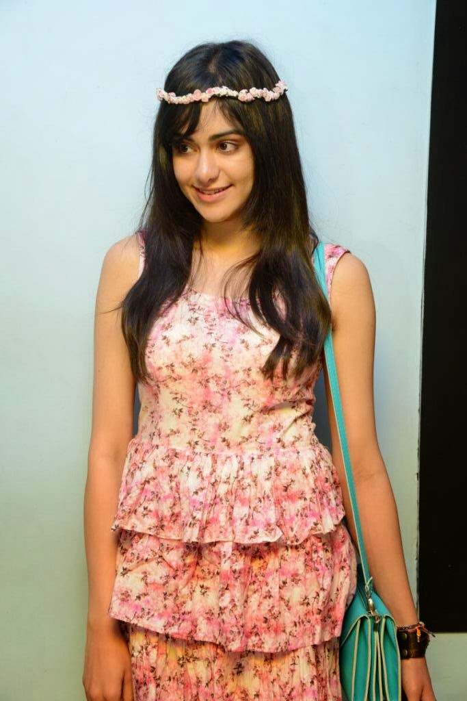 Lovely Adah sharma photos in floral dress at satya 2 premiere show