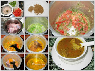 Making of Mutton Soup or Stew