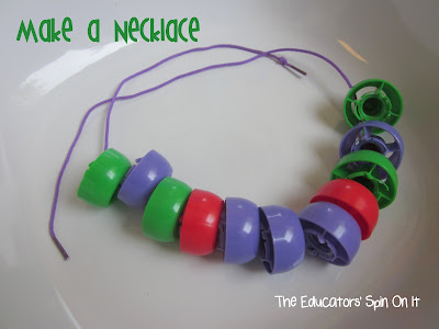 Necklace Activities for Kids with Lids from The Educators' Spin On It