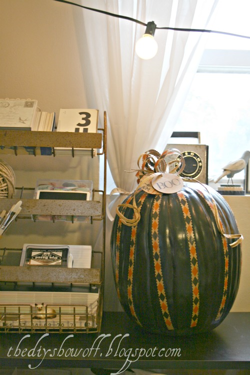 decoupaged pumpkin