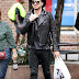 2014-10-13 PAPS: Adam Lambert Strolling in Tribeca-New York