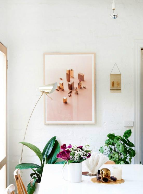 pretty pink wall art