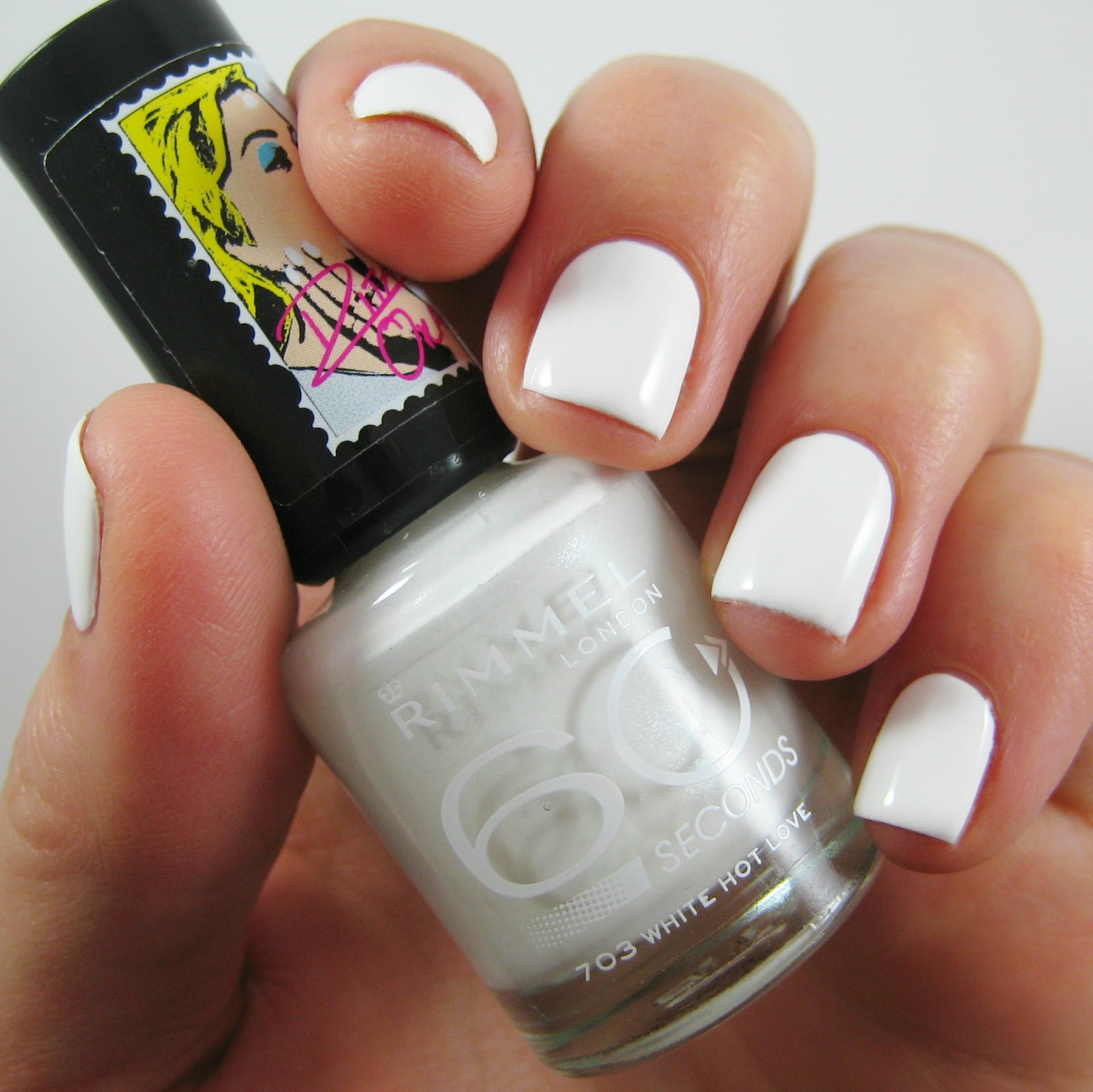 teabag nail patching rimmel white hot love