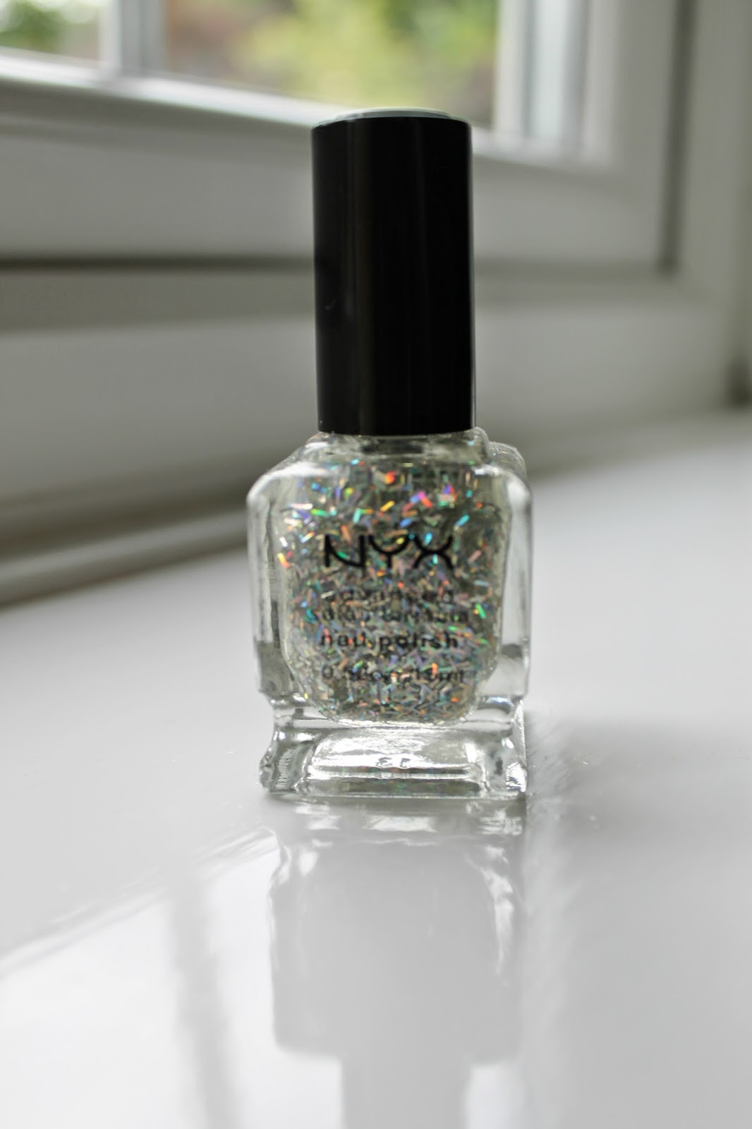 Love Me Beauty Box June 2014 NYX Nail Polish Silver Holographic