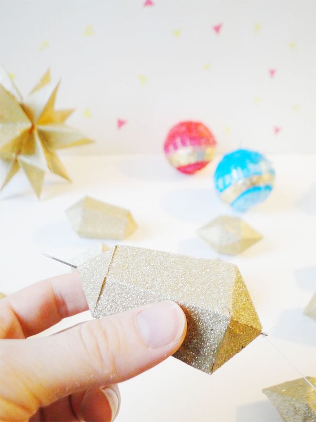 A Lovely LarkDIY Glitter Geometry Garland