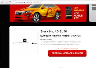Metra 40-EU10 Antenna Adapter