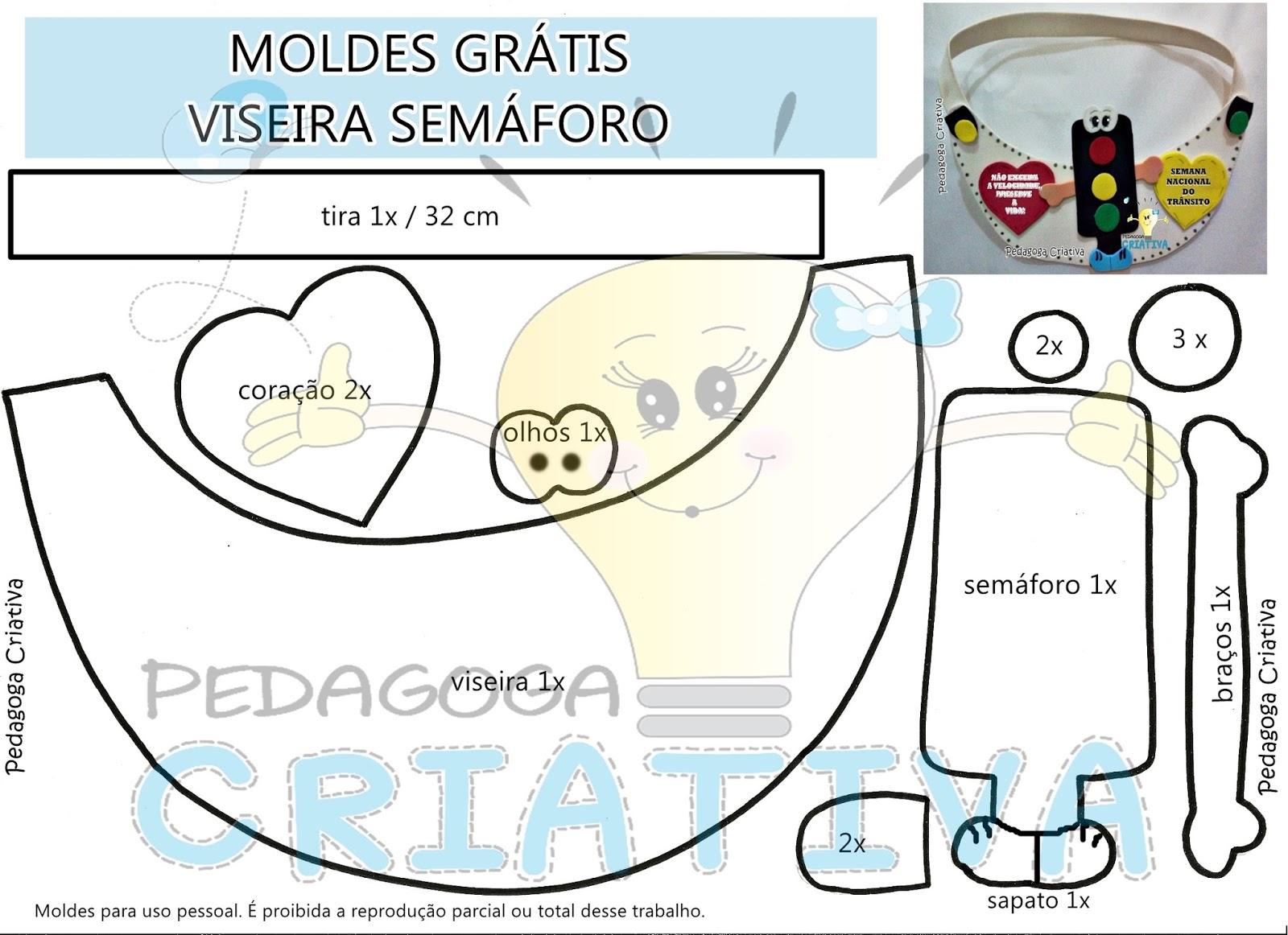 Pedagoga criativa moldes gr tis viseira sem foro for Moldes para pavimentos de hormigon