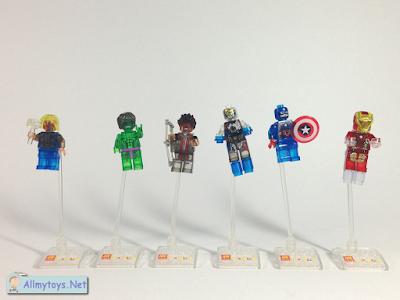 Lego Transparent Avengers Minifigures 5