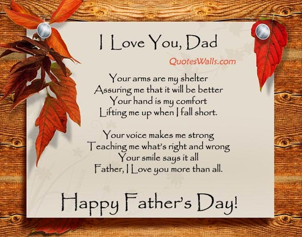 Sweet Father's Day Poem