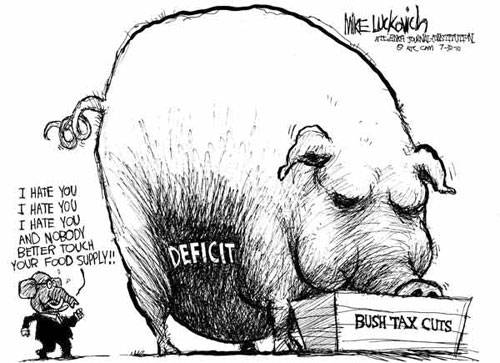 republican deficit obsession cartoon