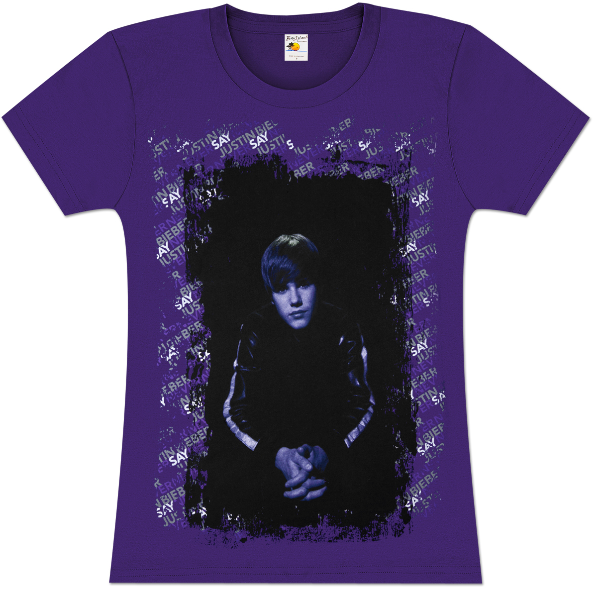 style or fashion world dark purple justin bieber t shirt. Black Bedroom Furniture Sets. Home Design Ideas