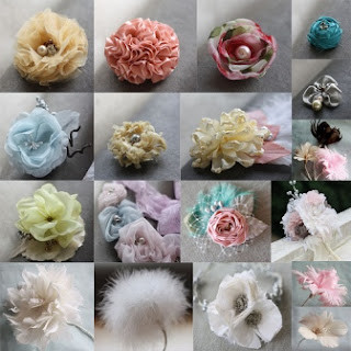 Handmade fabric and feather flowers my updated fabric flower all tutorials fabric flowers paper flower feather flowers hair bows and filler flowers mightylinksfo