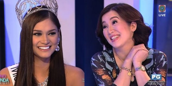 Kris Aquino thinks 2015 Miss Universe Pia Wurtzbach didn't like PNoy