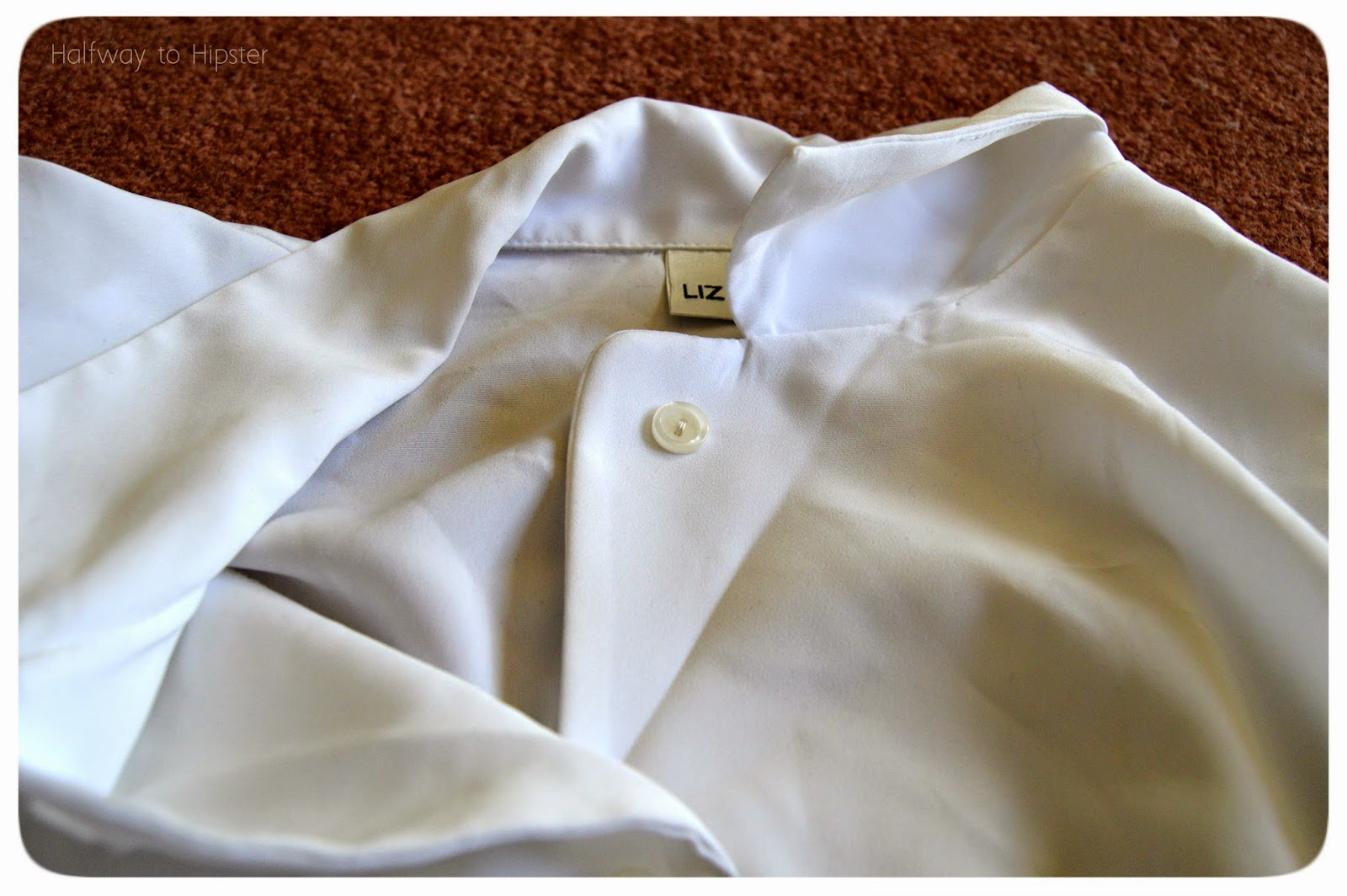 White Blouse Refashion
