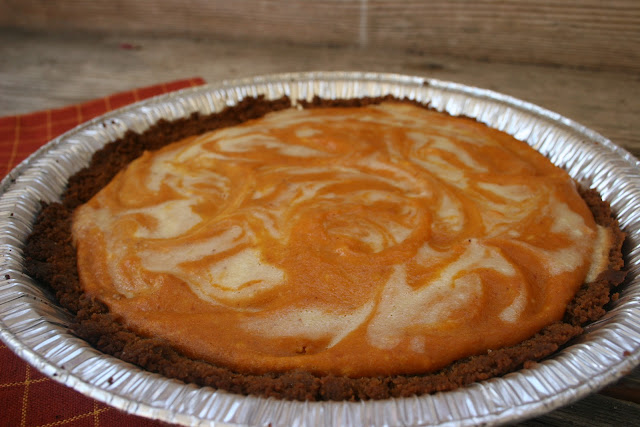 Pumpkin Ginger Cheesecake Pie
