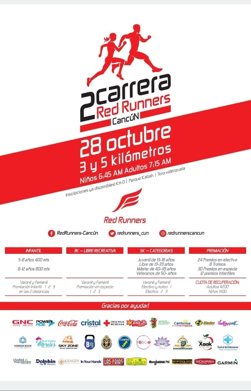 2 da carrera Red Runners Cancún