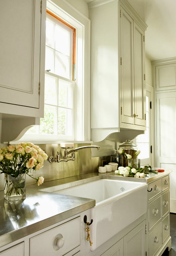 classic kitchen with farmhouse sink