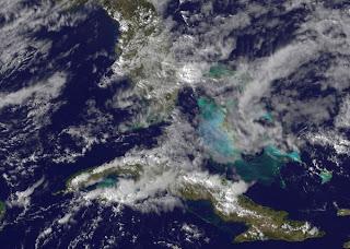 Tief bei Florida wird voraussichtlich kein (sub-) tropischer Sturm, aktuell, USA, Florida, Februar, 2012, Hurrikansaison 2012, Satellitenbild Satellitenbilder, Kuba