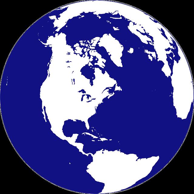 太平洋の地図