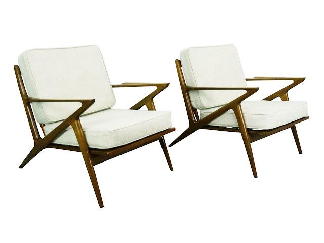 Poul JensenSelig Z Lounge Chairs Danish Modern Denmark Img 1