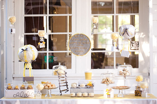 this sweet and stylish baby shower which i found via onto baby blog