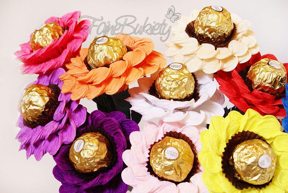 Słodkie kwiaty Ferrero Rocher