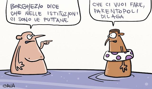 Gava gavavenezia satira vignette illustrazioni caricatura caricature ridere pensare piangere borghezio puttane lega prostituzione parentopoli
