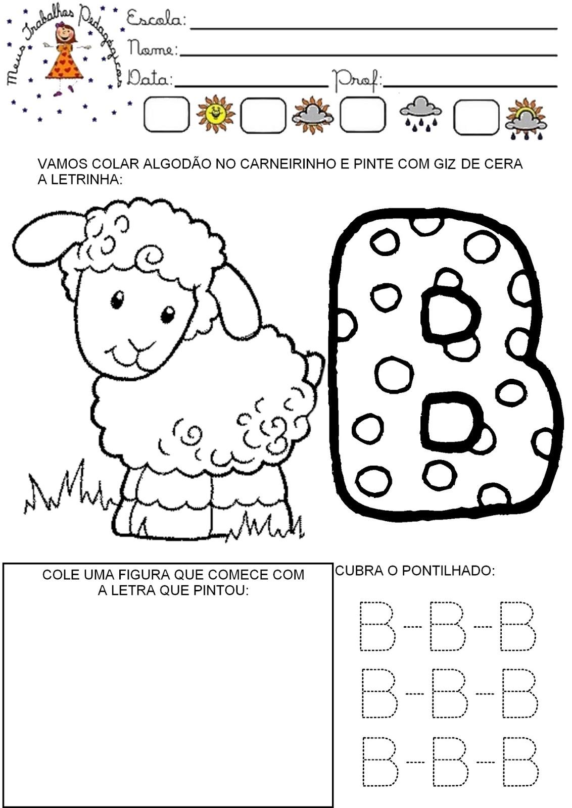 Meus Trabalhos Pedagógicos ®: Atividades alfabeto para ...