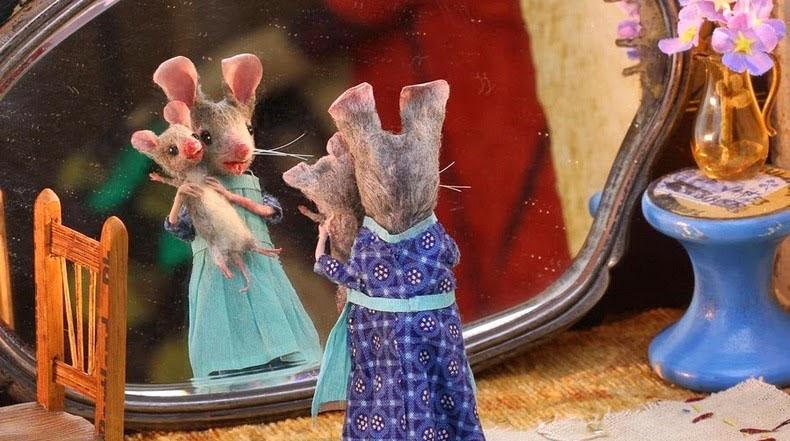Muñecos de ratones hecho a mano de Maggie Rudy