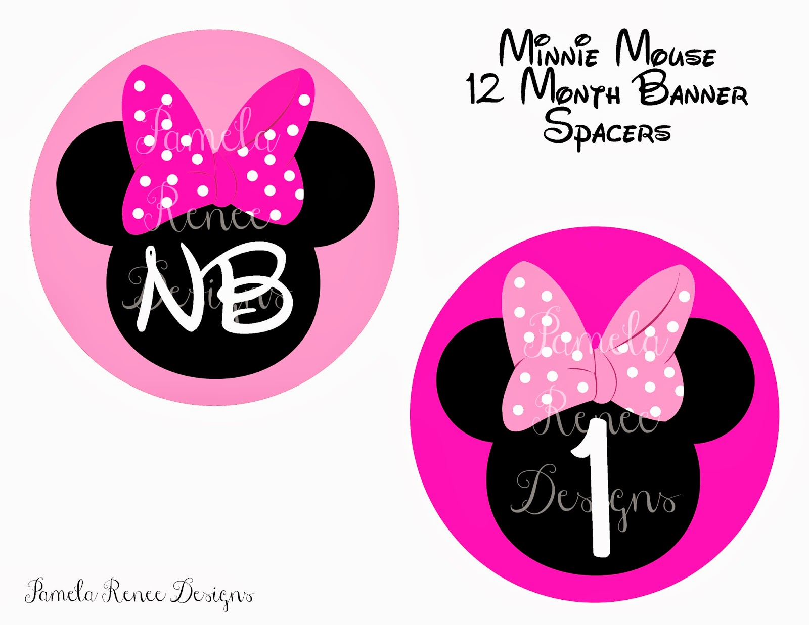 Pamela Renee Designs Party Theme Pink Or Red Minnie