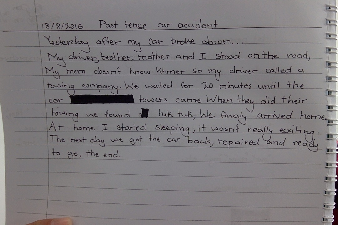 accident story essay