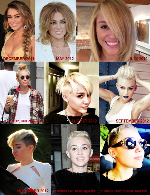 Miley Cyrus Haircut 2012 Short