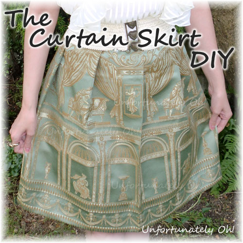 curtain skirt tutorial