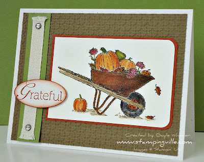 Watercolored Greeting Card Always Thankful by Stampin' Up!