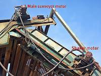 main conveyor motor and shaker motor
