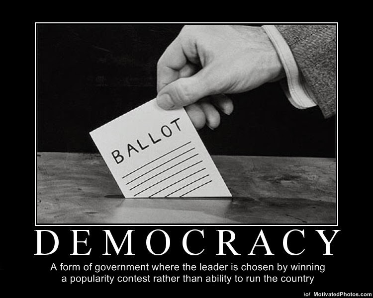 The trouble with democracy, in brief.