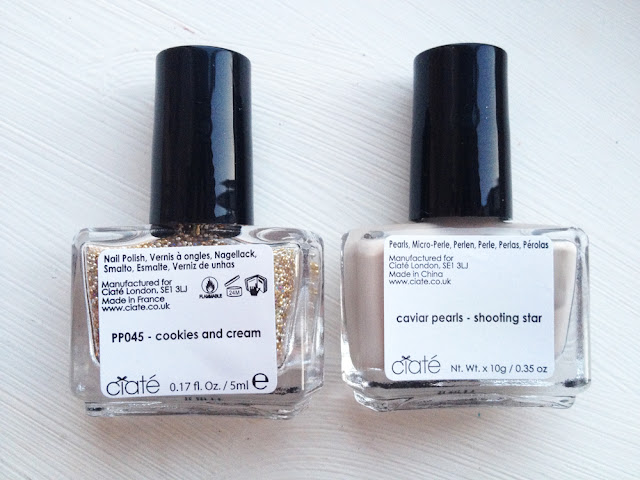 Ciate Mini Polish Cookies & Cream & Caviar Beads Shooting Stars Kit Free With Marie Claire Mag Review & Swatches