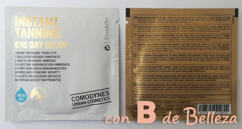Instant tanning Comodynes