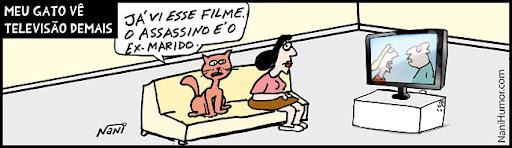 Meu gato vê televisão demais... (2)