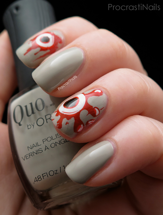 The Spoopiest Bloody Eyeballs You Ever Did See! - ProcrastiNails