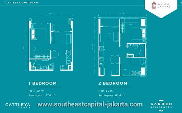 Tipe 1BR dan 2BR Apartment Southeast Capital Jakarta