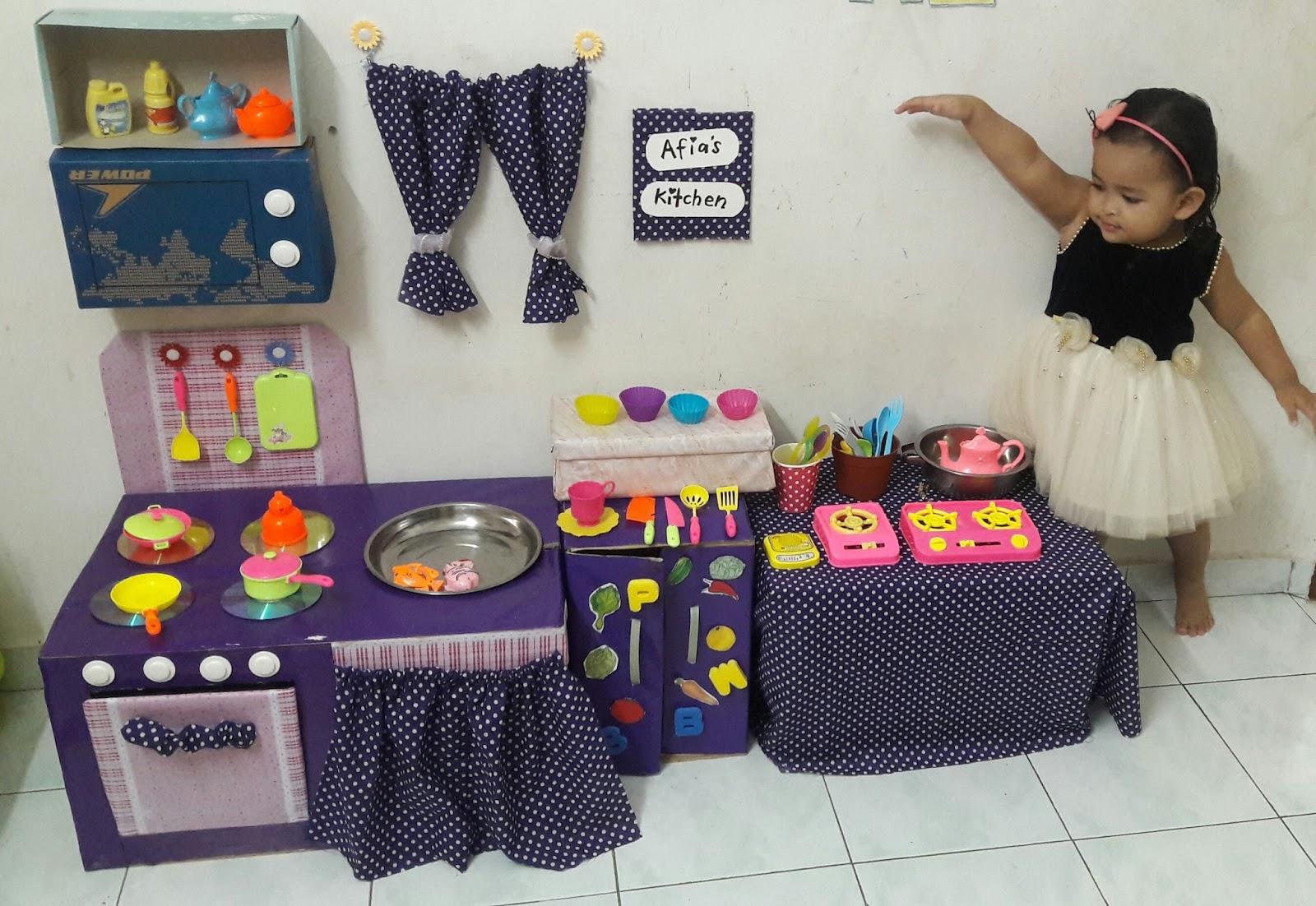 Diy kitchen set untuk afia ini cerita puan kutu for Cara bikin kitchen set