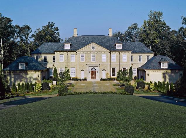 Mansions Stately European Inspired Brick Mansion In Atlanta GA