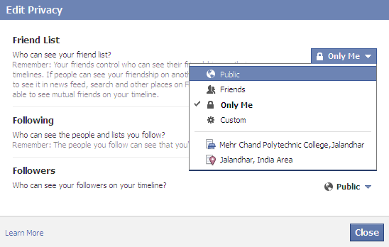 Hide Facebook Friends 2014