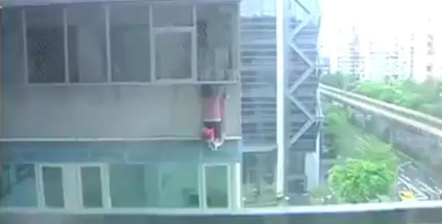 TKW Kaburan Lompat Dari Lantai 9 Demi Menghindari Razia Polisi